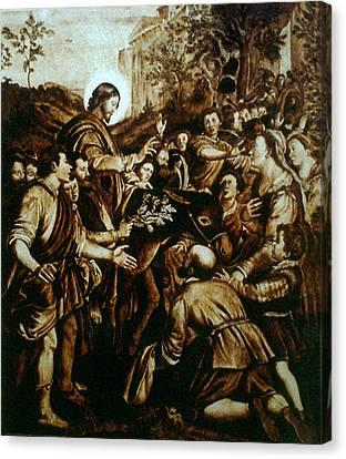 Entering Into Jerusalem Canvas Print by Dino Muradian