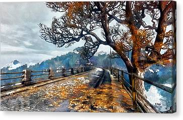 Entering Red Creek Valley Canvas Print