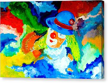 Canvas Print featuring the painting Entertainer by Piety Dsilva