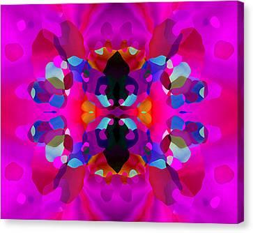 Canvas Print featuring the digital art Enthusiasm by Lynda Lehmann