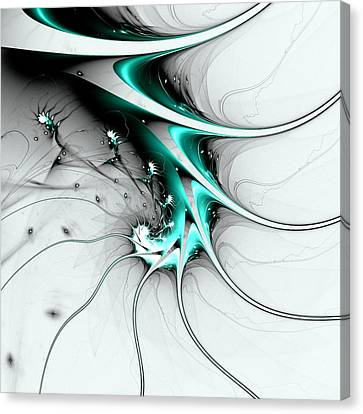 Canvas Print featuring the digital art Entity by Anastasiya Malakhova