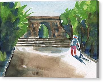 Entrance At Chankanaab Canvas Print