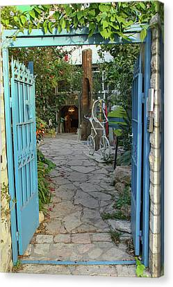 Canvas Print featuring the photograph Entrance Door To The Artist by Yoel Koskas