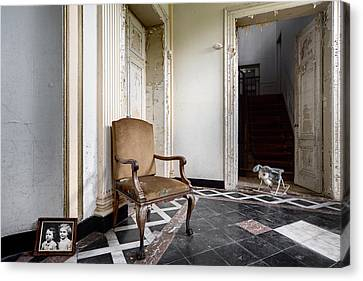 Entrance Hall With Old Memories - Abandoned Building Canvas Print by Dirk Ercken