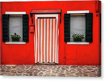 Entrance In Burano Canvas Print