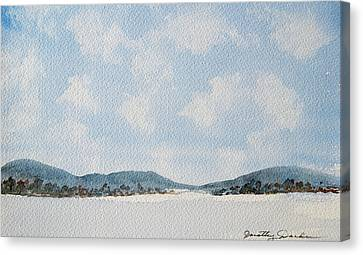 Entrance To Moulters Lagoon From Bathurst Harbour Canvas Print