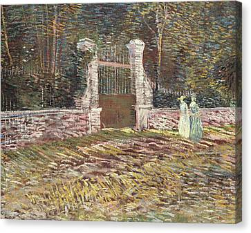 Entrance To The Voyer Dargenson Park At Asnieres Canvas Print
