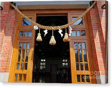 Entrance To The Wu De Martial Arts Hall Canvas Print by Yali Shi