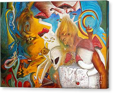 Entre Dos Mundos - Between Two Worlds Canvas Print by Raul Morales