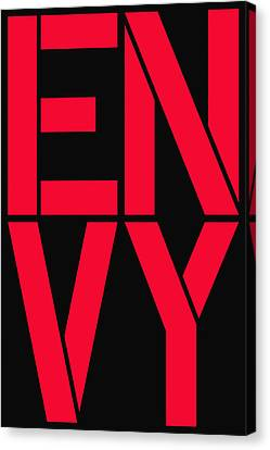 Envy Canvas Print by Three Dots