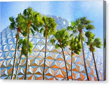 Epcot Palms Canvas Print by Paul Bartoszek