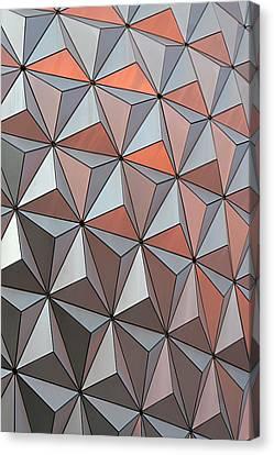 Epcot Pattern Canvas Print by Linda Phelps
