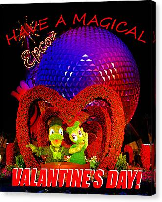 Epcot Valentine Card Canvas Print by David Lee Thompson