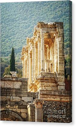 Ephesus - Library Of Celsus Canvas Print by HD Connelly