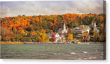 Canvas Print featuring the photograph Ephraim Wisconsin In Door County by Heidi Hermes