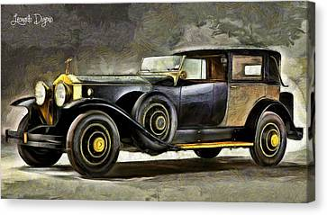 Roll Canvas Print - Epic Car - Da by Leonardo Digenio