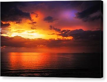 Epic End Of The Day At Equator Canvas Print by Jenny Rainbow