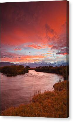 Epic Owens River Sunset Canvas Print by Nolan Nitschke