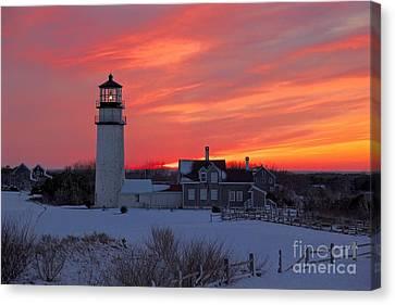 Epic Sunset At Highland Light Canvas Print