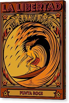 Epic Surf Designs Surf El Salvador Canvas Print by Larry Butterworth