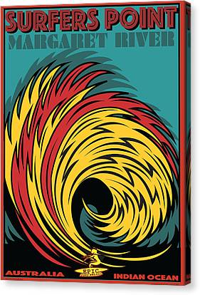 Epic Surf Designs Surfers Point  Canvas Print by Larry Butterworth