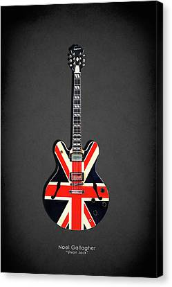 Epiphone Union Jack Canvas Print by Mark Rogan
