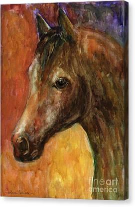 Equine Horse Painting  Canvas Print by Svetlana Novikova