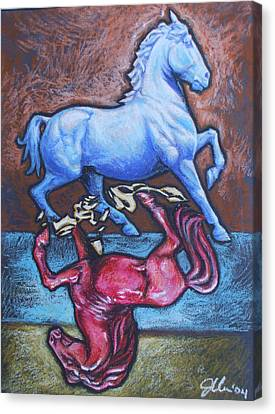 Equus Canvas Print by Jennifer Bonset