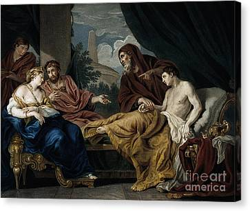 Greek School Of Art Canvas Print - Erasistratus, Ancient Greek Physician by Wellcome Images