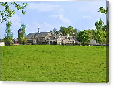 Canvas Print featuring the photograph Erdenheim Farm - Whitemarsh Montgomery County Pa by Bill Cannon
