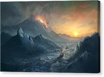 Boston Canvas Print - Erebus Mount by Guillem H Pongiluppi