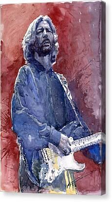 Eric Clapton Canvas Print - Eric Clapton 04 by Yuriy  Shevchuk