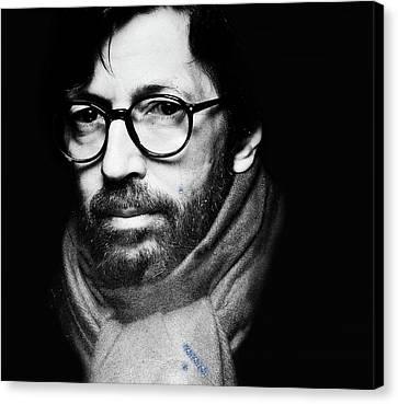 Eric Clapton Canvas Print by Allen Beilschmidt