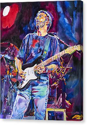 Eric Clapton Canvas Print - Eric Clapton And Blackie by David Lloyd Glover