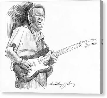 Eric Clapton Jam Canvas Print by David Lloyd Glover