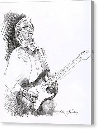 Fender Strat Canvas Print - Eric Clapton Joy by David Lloyd Glover