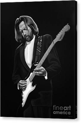 Eric Clapton Canvas Print by Meijering Manupix