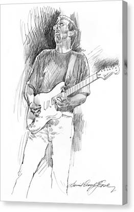 Eric Clapton Strat Canvas Print by David Lloyd Glover