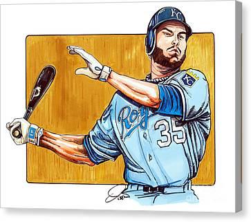 Eric Hosmer Of The Kansas City Royals Canvas Print