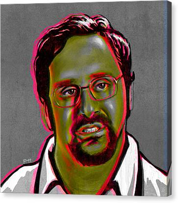 Eric Wareheim Canvas Print by Fay Helfer