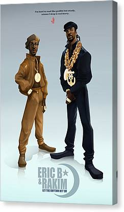 Ericb And Rakim Canvas Print by Nelson Garcia