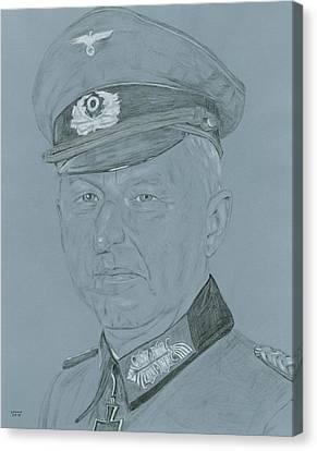 Ww Ii Canvas Print - Erich Von Manstein by Dennis Larson