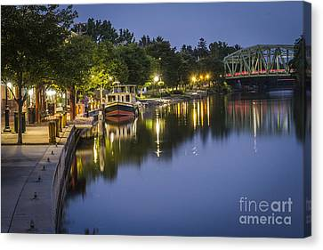 Erie Canal Stroll Canvas Print