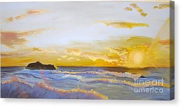 Erie Sunset Canvas Print