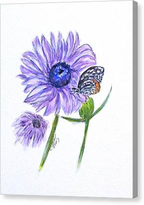 Erika's Butterfly Three Canvas Print by Clyde J Kell