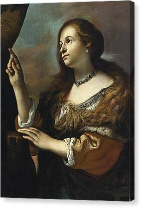 Erminia Princess Of Antioch Canvas Print by Mattia Preti