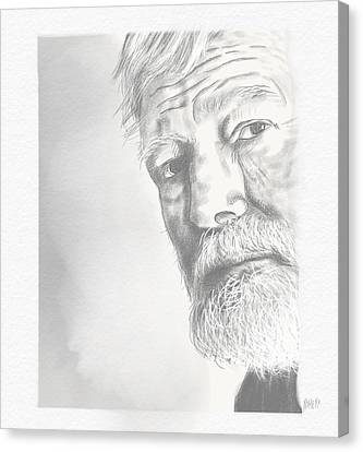 Ernest Hemingway Canvas Print by Antonio Romero