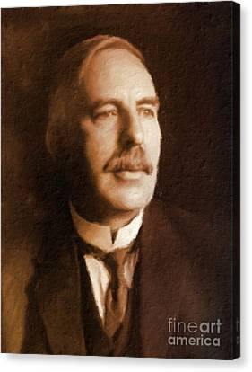 Ernest Rutherford, Scientist By Mary Bassett Canvas Print by Mary Bassett