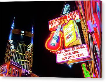 Nashville Tennessee Canvas Print - Ernest Tubb Record Shop - Downtown Nashville  by Gregory Ballos