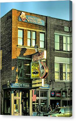 Nashville Tennessee Canvas Print - Ernest Tubbs Record Store by Steven Ainsworth